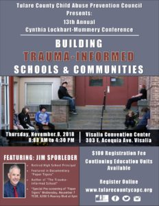 """Building Trauma Informed Schools and Communities"" 13th Annual Cynthia Mummery-Lockhart Conference @ Visalia Convention Center"
