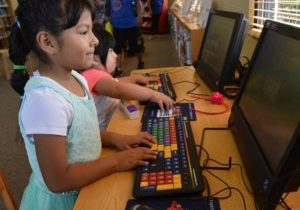 There are also computers and other resources for kids, such as at the Farmersville Branch Library shown here.